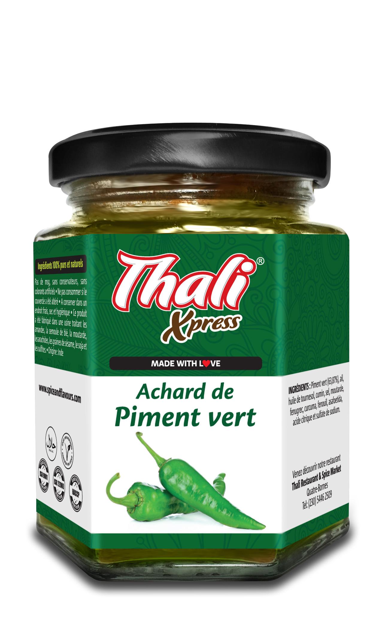 Achard de Piment vert Image